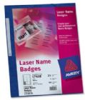 Avery Name Badges Laser-printable Refill Kit 8 per Card W86.5xH55.5mm Ref L7418 [ 25 Sheets]